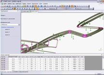 Деформированный вид трубопровода при переходе из монтажного в рабочее состояние