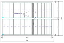 Рис. 40. Схема расположения плит перекрытия