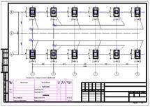 Рис. 22. Схема расположения фундаментов на свайном основании