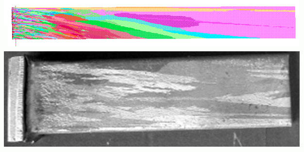 ProCAST/CAFE. Микроструктура литого образца (ОАО «НПО «Сатурн»)