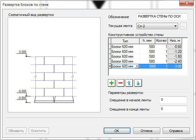 Рис. 37. Формирование схемы раскладки блоков