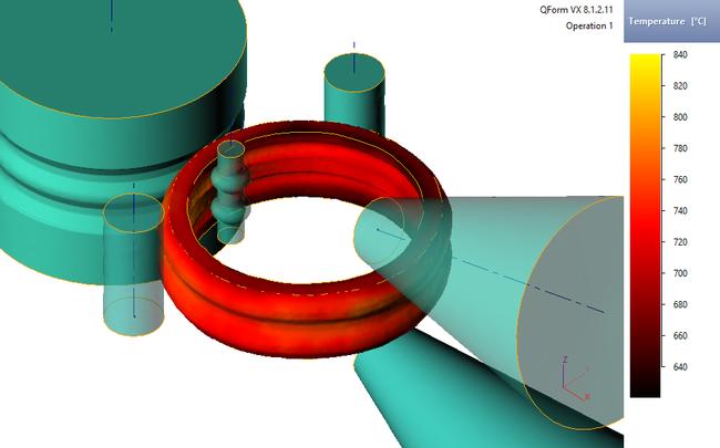 Раскатка профилированного кольца в QForm