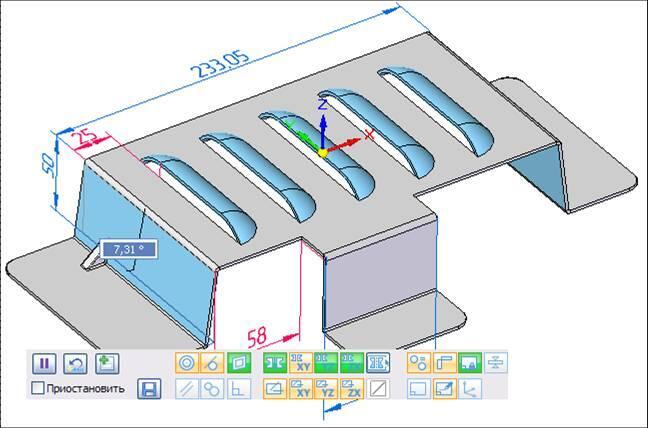 Рис. 18. Синхронная технология работает и в среде листовой детали